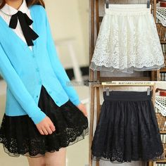 New Sexy Korean Girls Ladies Waist Bubble Tutu Floral Lace Tulle Mini Skirt EP98 #Unbranded #Mini5.98 frees ship china order size up