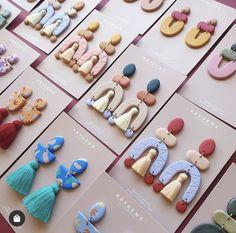 Cute Polymer Clay, Polymer Clay Charms, Polymer Clay Jewelry, Diy Crafts Jewelry, Clay Crafts, Diy Clay Earrings, Clay Ornaments, Clay Design, Bijoux Diy