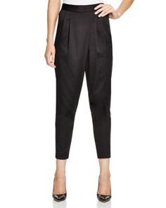 Hoss Intropia Satin Draped Pants | Bloomingdale's