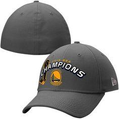 06a9aca08b76f1 Golden State Warriors New Era 2015 NBA Finals Champions 39THIRTY Flex Hat -  Graphite
