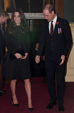 Catherine, Duchess of Cambridge and Prince William, Duke of Cambridge attend the annual Royal Festival of Remembrance at the Royal Albert Hall on November 12, 2016 in London.