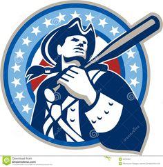 American Patriot Baseball Bat Retro Stock Image - Image: 34761261