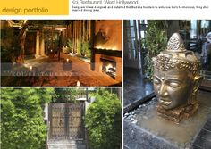 Buddha Fountain at Koi Restaurant in West Hollywood, by Designers Views