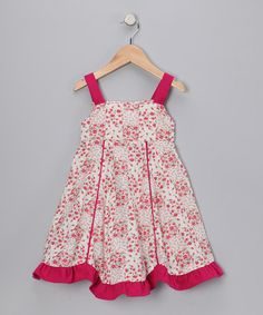 Take a look at this Cranberry Floral Patchwork Dress - Infant, Toddler & Girls by Fantaisie Kids on #zulily today!