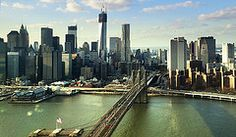 Low Fly over #3 (Tony Shi.) Tags: new york city nyc newyorkcity bridge ny tower skyline brooklyn river photography one freedom chopper downtown tour br worldtradecenter aerial east financialdistrict helicopter wtc fdrdrive lowermanhattan heli seaport  beekman  fidi                           newyorkbygehry