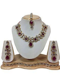 80827cd00e744 22 Best Dazzling Bollywood Designer Wedding Party Kundan Necklace ...