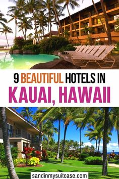9 Beautiful Hotels in Kauai (Hawaii). Where to stay in Kauai? We've bunked down at these 9 best hotels in Kauai. See our honest reviews, with pros and cons for each! #Kauai #Kauaihotels #Hawaii #luxuryresort #luxuryhotel #hotelreview Hawaii Vacation Outfits, Vacation Trips, Vacations, Best Hotels In Kauai, Best Resorts, Travel Guides, Travel Tips, Hawaii Activities, Poipu Beach