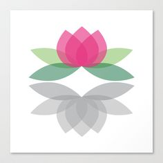 Lotus Stretched Canvas by Eva Eliasson - $85.00