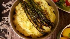 Shepherd pie with asparagus