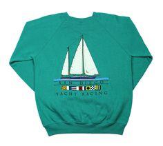 Vintage 1987 San Diego Yacht Racing Crewneck Sweatshirt Made in USA   Vintage Mens Goods