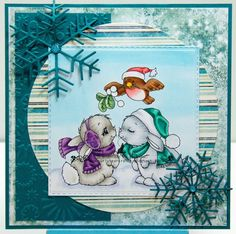 Christmas bunny, Whimsy stamps, Bunny, Stamp, Christmas, Card craft - Crissy Armstrong Collection Christmas Bunny Kisses The Crissy Armstrong Collection for Whimsy Stamps Deeply etched rubber mounte - #Christmasbunny