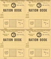 1940s themed party - ration books: