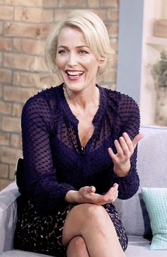 gillian anderson — Gillian Anderson at This Morning Show (11.13.14).