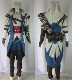 Assassins Creed III AC 3 Connor Kenway Cosplay Costumes on Etsy, $199.75.  Just a reference =)