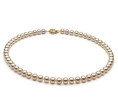 Refined and delicate, this strand of gorgeous Japanese Akoya Pearls will take anyone's breath away. Double-knotted fine silk thread weaves its way throughout the necklace carefully keeping each pearl from rubbing against the other. White Pearl Necklace, Cultured Pearl Necklace, Cultured Pearls, White Freshwater Pearl, Freshwater Pearl Necklaces, Necklace Sizes, Necklace Lengths, Beautiful Necklaces, Fashion Necklace