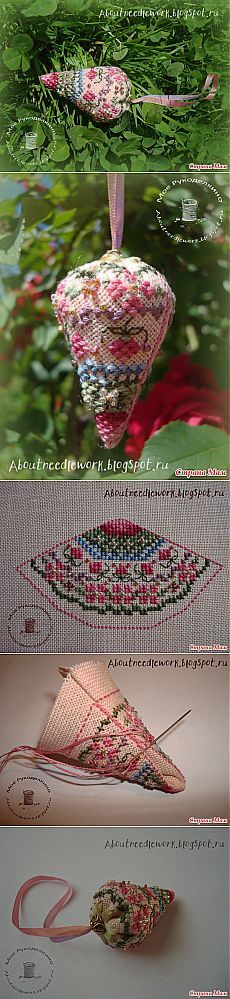 Instructions for making a Strawberry Pincushion