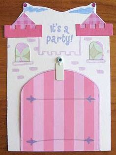 Princess Party Invitations! I LOVE these! I think I might make these for Alaena's Princess Birthday this year :)