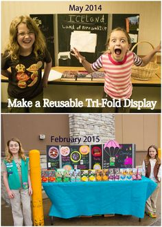 From their science fair board to their cookie booth display, my girls go through a lot of tri-fold display boards. No longer!