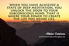 Unlock the door to your subconscious mind