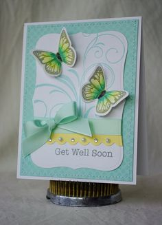 Butterflies by Nerina's Cards, via Flickr