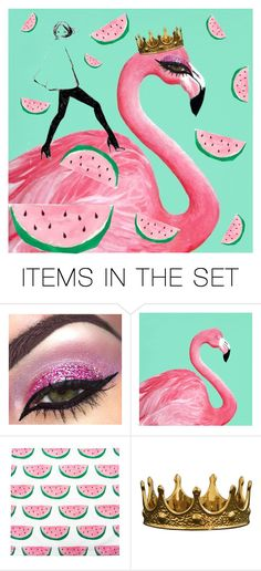 """Tickled Pink"" by beanpod ❤ liked on Polyvore featuring art"