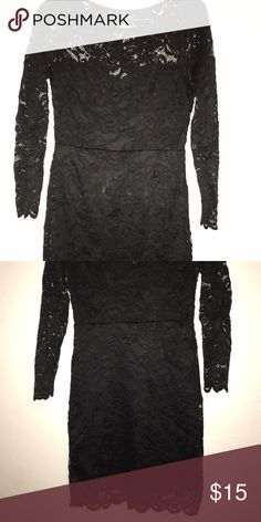 Dress Sexy black lace dress Ambiance Apparel Dresses Long Sleeve
