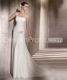 Luxurious Strapless Watteau Train Floor-length  Wedding Dresses  2014 Spring Trends