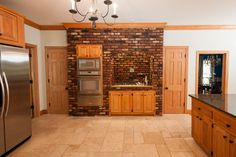 This brick accent wall will add life to any kitchen!
