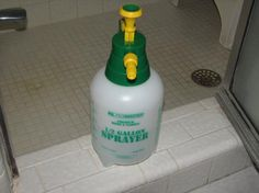 Shower mold cleaner