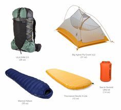 Pacific Crest Trail Gear - The Big Three The Best backpacking supply list on the internet!
