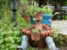 how to make a flower pot scarecrow - Google Search