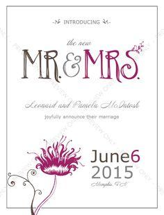 Playful Wedding Announcement