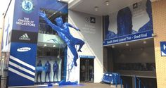 Chelsea FC Megastore, London, UK.