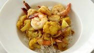 Curried Shrimp and Cauliflower  This was quick, easy and delicious! I served it with cauliflower rice! Yum! Can't wait to make it again and the house smelled amazing!