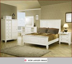 sandy beach bedroom set in white co 201301 set more sandy beach beach