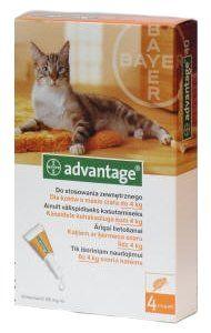 Bayer ADVANTAGE Spot-on Cat 4x0,4ml (pro kočky do 4kg)   MALL.CZ