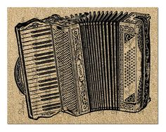 Accordion Printable Graphic Instant Digital Download.    The images in the file are high resolution 300 dpi and come ready to print on 8.5 x 11