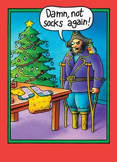 ~ Pirate Socks...gotta luv those holidays!