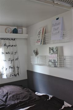possibly in girls rooms who desperately need curtains and book shelves Great idea!! - CL