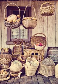 baskets* . #Basket #wicker basket #Fruit Basket