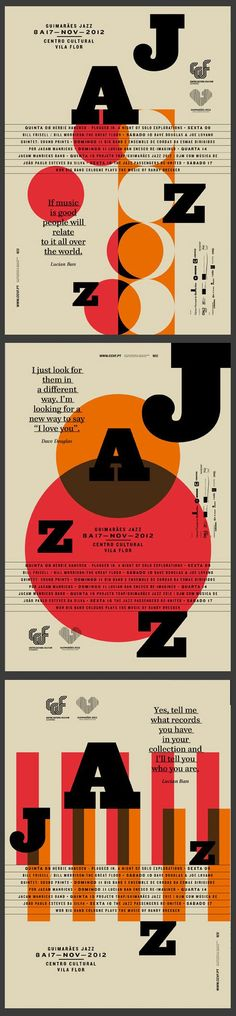 GUIMARÃES JAZZ 2012 by Atelier Martinoña , via Behance Typography Poster