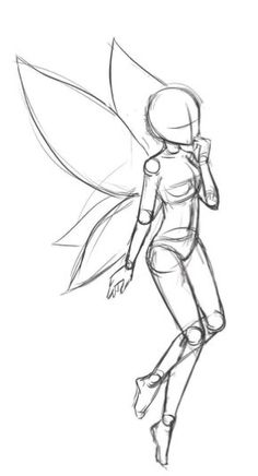 Learn To Draw Manga drawing techniques Learn To Fairy Drawings, Pencil Art Drawings, Art Drawings Sketches, Cute Drawings, Pencil Sketching, Outline Drawings, Tattoo Sketches, Fairy Wings Drawing, Easy Animal Drawings
