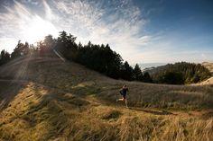Photo: Michael Wardian running on a trail in Marin, California