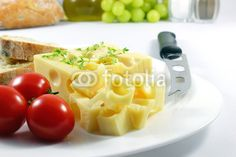 Emmenthal cheese with bread - Emmentaler mit Brot