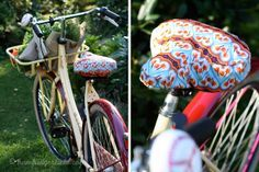Hamburger Liebe: Was Hübsches für's Hinterteil – damit dein Fahrradsattel trocken bleibt und auch noch schick aussieht – Fahrradsattelbezug-Tutorial