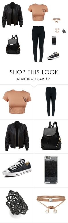 """""""clothes street <3"""" by genta-cxliv ❤ liked on Polyvore featuring LE3NO, Converse, LMNT, nOir, ALDO and APM Monaco"""