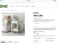 Liatorp, Ikea Side Table, Home And Living, Glass, Room, Bedroom, Drinkware, Corning Glass, Rum