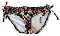 Kenneth Cole Bikini Swim Bottom Size MEDIUM BLACK Floral NWT $52 #KennethCole #BikiniBottom