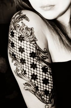 Lace and filagree Tattoo Sleeve