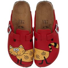 Birkis clogs Woodby from Birko-Flor in Red Cat Bridget with a narrow insole Birki's. $51.64
